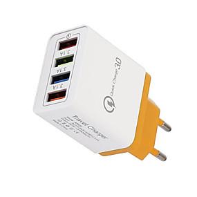 olcso USB Töltők-4 font töltő 3a mobiltelefon táblagép utazás kompakt, hordozható gyors töltésű fej az európai utazási töltőre vonatkozó előírások