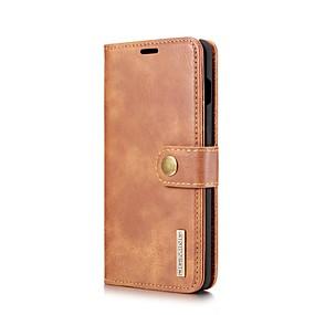 voordelige Galaxy S7 Hoesjes / covers-hoesje Voor Samsung Galaxy S9 / S9 Plus / S8 Plus Portemonnee / Kaarthouder / met standaard Volledig hoesje Effen aitoa nahkaa