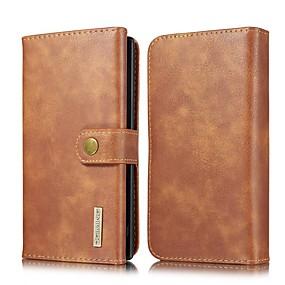 Недорогие Чехлы и кейсы для Galaxy Note 8-Кейс для Назначение SSamsung Galaxy Note 9 / Note 8 / Samsung Note 10 Кошелек / Бумажник для карт / со стендом Чехол Однотонный Настоящая кожа