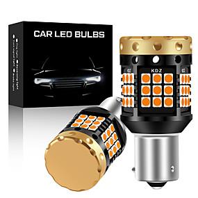 olcso Car Signal Lights-2db / tétel nincs hipervaku 1156 ba15s p21w bau15s py21w t20 7440 izzó irányjelző fény sárga 12v 3030 36 / 45smd canbus hibamentes LED-ek
