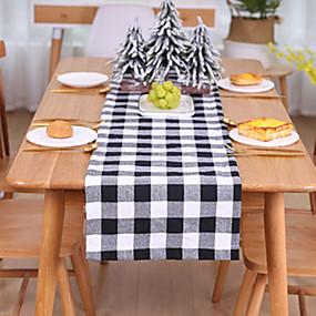 رخيصةأون شرشفات الطاولة-تحديد الموقع ل مفارش المائدة العشاء مع نمط منقوشة عدم الانزلاق لديكور المنزل عيد الميلاد