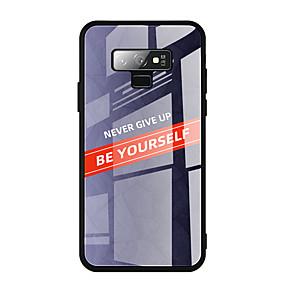 Недорогие Чехлы и кейсы для Galaxy Note 8-Кейс для Назначение SSamsung Galaxy Note 9 / Note 8 / Samsung Note 10 С узором Кейс на заднюю панель Плитка Закаленное стекло