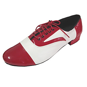 povoljno MEN SALE-Muškarci Plesne cipele PU Moderna obuća Štikle Debela peta Bronza / Crvena