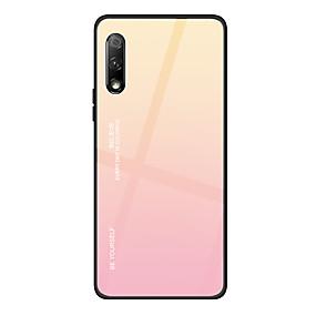 voordelige Huawei Honor hoesjes / covers-hoesje Voor Huawei Huawei Nova 4 / Huawei P20 / Huawei P20 Pro Ultradun Achterkant Kleurgradatie Gehard glas