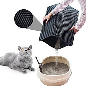 abordables Accesorios y Ropa para Gatos-Perros Gatos Animales Pequeños de Pelo Camas El plastico Mascotas Colchonetas y Cojines Un Color Impermeable Multi capa Negro Café