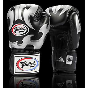 baratos Exercício e Fitness-Luvas de Box Para Boxe Dedo Total Protecção PU Preto