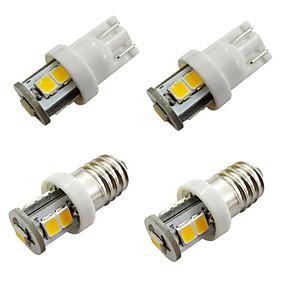 Недорогие Задние фонари-10 шт. E10 светодиодные лампы 7 smd 2835 ширина приборной панели автомобиля лампы белый теплый белый dc 12 В 1 Вт