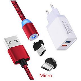 olcso USB Töltők-mágneses mikro usb töltő kábel tiszteletére 8a 8x meizu v8 m6 m5s qc 3.0 gyors töltő samsung a7 j2 a6 asus zenfone 3 max zc520tl