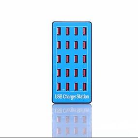 olcso USB Töltők-100w 20a usb töltő a5 plusz 20 asztali töltőállomás intelligens azonosítással us plug / eu plug / uk plug / au plug töltő adapter