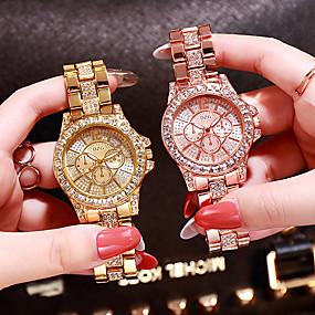 ieftine Cuarț ceasuri-Pentru femei Ceasuri de lux Diamond Watch ceas de aur Quartz femei Analog Roz auriu Auriu Argintiu / Oțel inoxidabil / Oțel inoxidabil / Japoneză / Japoneză
