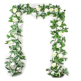 olcso Művirágok-Művirágok 1 Ág Modern stílus Esküvő Rózsák Növények Asztali virág