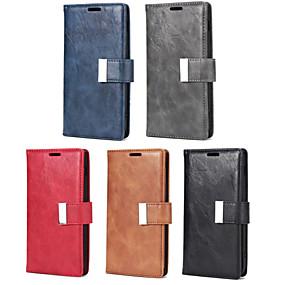 voordelige Galaxy S7 Hoesjes / covers-hoesje Voor Samsung Galaxy S9 / S9 Plus / S8 Plus Portemonnee / Kaarthouder / met standaard Volledig hoesje Effen PU-nahka / TPU