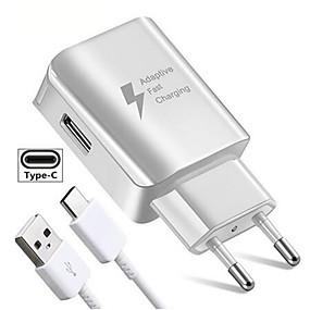olcso USB Töltők-usb töltő eu csatlakozó gyors adapter töltés utazási fali töltőkhez samsung huawei xiaomi oppo vivo typec mikro usb adatkábelhez