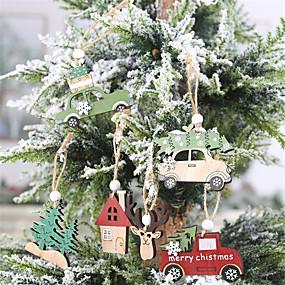 ieftine Decorațiuni Vacanță & Petrecere-Decorațiuni de sărbători petreceri de Crăciun de Anul Nou petreceri / 6pcs decorative