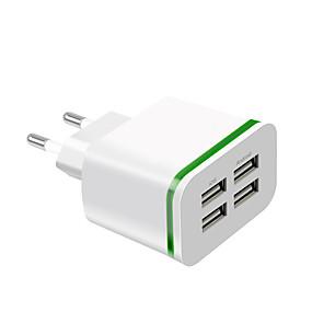 economico Attacco spina di ricarica-Caricatore veloce Caricabatteria USB Presa EU Multiuscita 4 porte USB 4 A 100~240 V per Universali