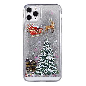 voordelige iPhone 11 Pro Max hoesjes-hoesje Voor Apple iPhone 11 / iPhone 11 Pro / iPhone 11 Pro Max Stromende vloeistof / Patroon / Glitterglans Achterkant Boom / Kerstmis TPU