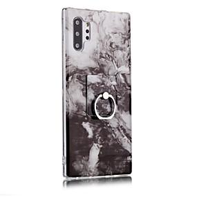 Недорогие Чехлы и кейсы для Galaxy Note 8-Кейс для Назначение SSamsung Galaxy Note 9 / Note 8 / Galaxy Note 10 Кольца-держатели / Ультратонкий / С узором Кейс на заднюю панель Мрамор ТПУ