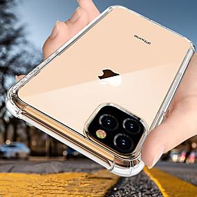 voordelige iPhone 11 Pro Max hoesjes-luxe schokbestendige siliconen telefoonhoes voor iPhone 11 pro max xr xs max x 8 plus 7 plus 6 plus hoesjes transparante bescherming achterin