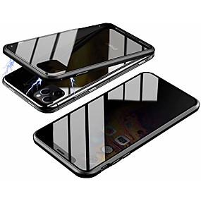 voordelige iPhone 11 Pro Max hoesjes-hoesje Voor Apple iPhone 11 / iPhone 11 Pro / iPhone 11 Pro Max Magnetisch Volledig hoesje Effen Gehard glas