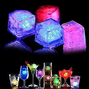 ieftine Lumini & Gadget-uri LED-SENCART LED-uri de lumină de noapte Rezistent la apă Decorațiuni 24pcs