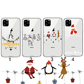 voordelige iPhone 11 Pro Max hoesjes-hoesje Voor Apple iPhone 11 / iPhone 11 Pro / iPhone 11 Pro Max Transparant / Patroon Achterkant Kerstmis TPU