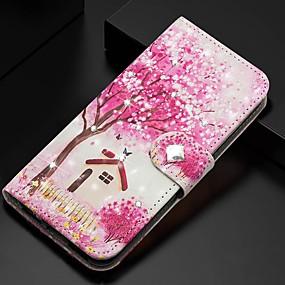 voordelige Galaxy S7 Hoesjes / covers-hoesje Voor Samsung Galaxy S9 / S9 Plus / S8 Plus Portemonnee / Kaarthouder / met standaard Volledig hoesje Boom PU-nahka