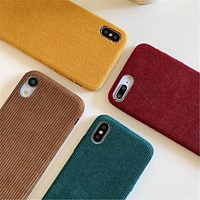 voordelige iPhone 11 Pro Max hoesjes-hoesje Voor Apple iPhone 11 / iPhone 11 Pro / iPhone 11 Pro Max Stofbestendig Achterkant Effen / Pluche tekstiili / TPU