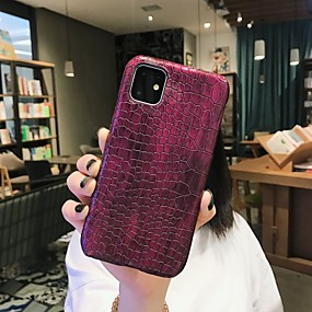 cheap iPhone 11-Case For Apple iPhone 11 / iPhone 11 Pro / iPhone 11 Pro Max Shockproof / Dustproof / Ultra-thin Back Cover Solid Colored PU Leather / PC
