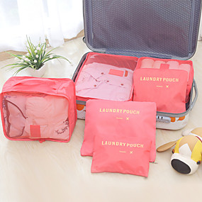 voordelige Opbergen en Organisatie-hoge kwaliteit mode reizen opbergtas set voor kleding netjes organisator zes stuks waszak koffer verpakking zakken voor deken