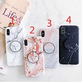 voordelige iPhone 11 Pro Max hoesjes-hoesje Voor Apple iPhone 11 / iPhone 11 Pro / iPhone 11 Pro Max met standaard / IMD / Mat Achterkant Marmer TPU