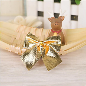 olcso Holiday & Party dekorációk-12db íj karácsonyi díszek pillangócsomó ünnepi díszek