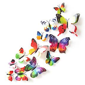 hesapli Dekorasyon Etiketleri-Hayvanlar çift katmanlı duvar çıkartmaları 3d duvar çıkartmaları dekoratif duvar çıkartmaları ışık anahtarı çıkartmalar buzdolabı çıkartmalar düğün çıkartmaları pvc ev-çok renkli