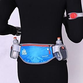 olcso Kempingezés & hátizsákos utazás-Övtáska Vízálló Csúszásgátló Viselhető YKK Zipper Külső Futás Jégkorcsolyázás Downhill Műanyag Fekete Fukszia Zöld