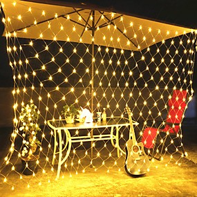 cheap Holiday & Party Decorations-3M X2M 200Leds Home Outdoor Holiday Christmas Xmas Decorative Wedding Net Mesh String Fairy Curtain Garlands Strip Party Light