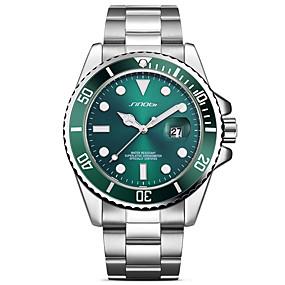 Недорогие Фирменные часы-SINOBI Муж. Наручные часы Японский Кварцевый Нержавеющая сталь Серебристый металл 30 m Защита от влаги Творчество Ударопрочный Аналоговый Роскошь Блестящие Классика Мода минималист -