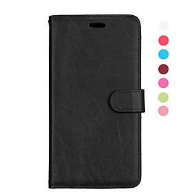 voordelige Galaxy S7 Edge Hoesjes / covers-hoesje Voor Samsung Galaxy S9 / S9 Plus / S8 Plus Magnetisch / Auto Slapen / Ontwaken Volledig hoesje Effen PU-nahka / TPU