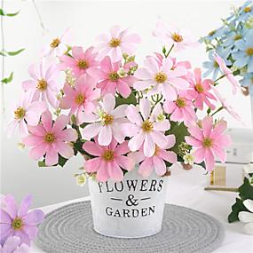 halpa Tekokukat-tekokukat 1 haara klassinen häät maalaismainen terälehtiä pöytätaso kukka