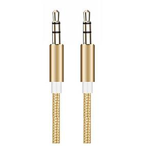 billige Apple-3,5 mm jack lydkabel 3,5 mm stereo hjelpekabel for iphone 6 6s bil mp3 mp4 hodetelefonhøyttaler aux-kabel