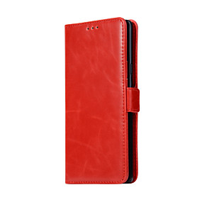 Недорогие Чехлы и кейсы для Galaxy Note 8-Кейс для Назначение SSamsung Galaxy Note 9 / Note 8 / Note 5 Кошелек / Бумажник для карт / Флип Чехол Однотонный Кожа PU / ТПУ