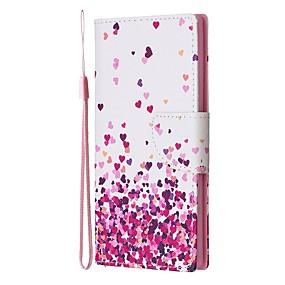 Недорогие Чехлы и кейсы для Galaxy Note 8-Кейс для Назначение SSamsung Galaxy Note 9 / Note 8 / Galaxy Note 10 Кошелек / Бумажник для карт / со стендом Чехол С сердцем Кожа PU