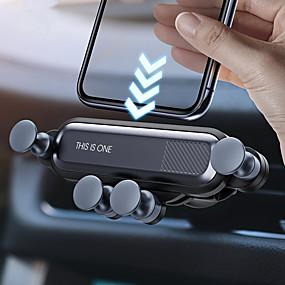 abordables monté sur véhicule-support de voiture de gravité téléphone en clip de ventilation de la voiture monter aucun support de téléphone portable magnétique support gps pour iphone 11 huawei p30 samsung note 10 xiaomi cc9