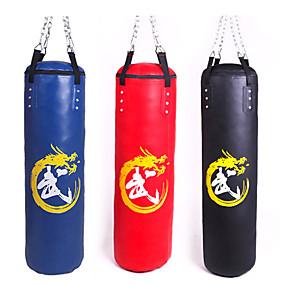 baratos Boxe-Saco de Boxe Heavy Bag Kit Para Taekwondo Boxe Karatê Artes marciais Ajustável Durável Vazio Treinamento de Resistência Rotação 360° PU 1 pcs Adulto - Preto Vermelho Azul