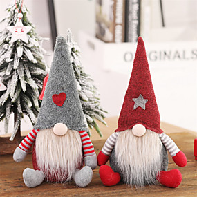 cheap Holiday & Party Decorations-Santa Claus Christmas Ornaments Faceless Doll Gnome Plush  Home Party Decoration New Year Gift