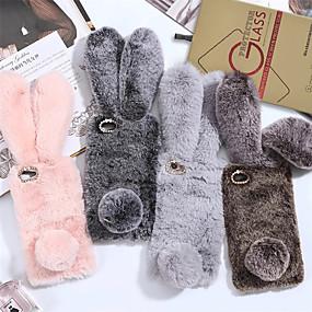 voordelige iPhone 11 Pro Max hoesjes-hoesje met schermbeschermer voor Apple iPhone 11/11 pro / 11 pro max schokbestendig / stofdicht achterkant konijn / effen textiel / tpu voor iPhone 7/7 p / 8/8 p / 6/6 plus / x / xs / xr / xs max