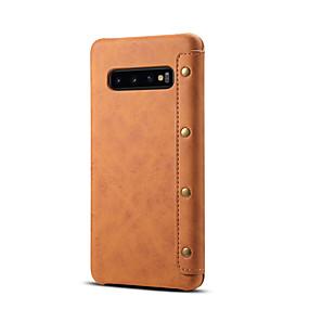 Недорогие Чехлы и кейсы для Galaxy Note 8-Кейс для Назначение SSamsung Galaxy S9 / S9 Plus / Note 9 Бумажник для карт Чехол Однотонный Кожа PU