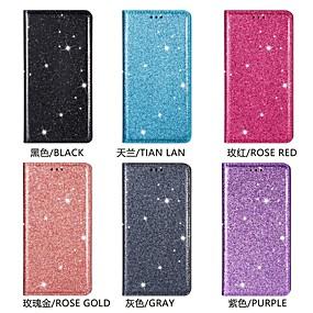 Недорогие Чехлы и кейсы для Galaxy Note 8-Кейс для Назначение SSamsung Galaxy Note 9 / Note 8 / Samsung Note 10 Бумажник для карт / Сияние и блеск Чехол Однотонный / Плитка Кожа PU