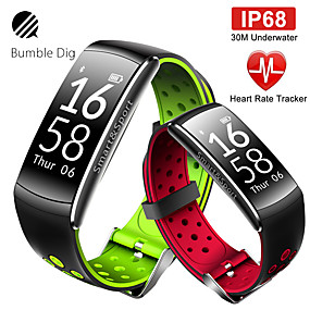 cheap Smart Watches-Smartwatch Digital Modern Style Sporty Silicone 30 m Water Resistant / Waterproof Heart Rate Monitor Bluetooth Digital Casual Outdoor - Black / Gray Black / Green Black / Red