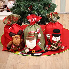 olcso Holiday & Party dekorációk-nagy háromdimenziós vászon karácsonyi ajándék táska Mikulás ajándék táska