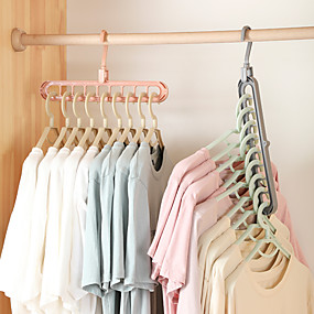 voordelige Opbergen en Organisatie-2 stks kleding kleerhanger organisator multi-poort ondersteuning droogrekken plastic sjaal cabide opbergrek hangers