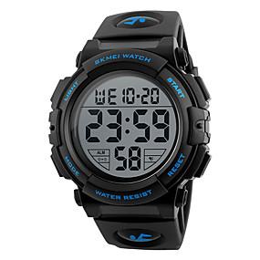 رخيصةأون الأكثر مبيعا مشاهدة العلامة التجارية للرجال-SKMEI رجالي ساعة رياضية ساعة رقمية رقمي جلد اصطناعي أسود / أخضر ساعة كاجوال رقمي سحر - أخضر أزرق ذهبي سنتان عمر البطارية / Maxell626 + 2025